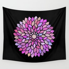 Flower Mandala Rose Gold And Purple Wall Tapestry