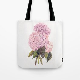 watercolor pink hydrangea Tote Bag