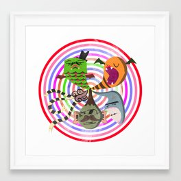 scary makes you happy Framed Art Print