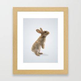 Polygon Rabbit Framed Art Print