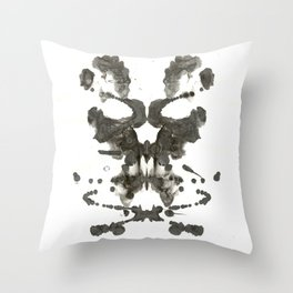 Inkblot Skull Throw Pillow