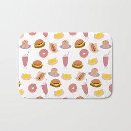 american diner food Bath Mat