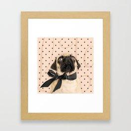 Trés Chic Pug Framed Art Print