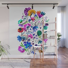 You got this gurl watercolor quote with flowers Wall Mural