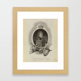 Edward Scriven (1775-1841) HIS ROYAL HIGHNESS the DUKE of CUMBERLAND. 1807 Framed Art Print