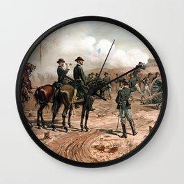 The Siege Of Atlanta -- Civil War Wall Clock