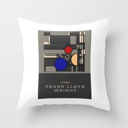 Poster of Frank Lloyd Wright Throw Pillow