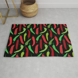 New Mexico Christmas Hatch Chiles in Black Rug