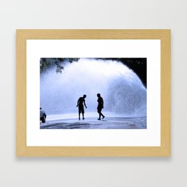 TAUNTING THE GIANT Framed Art Print