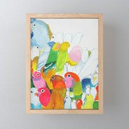 Flock of Birdies Framed Mini Art Print