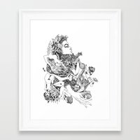 biology Framed Art Prints featuring biology class doodle by Jordan Piantedosi