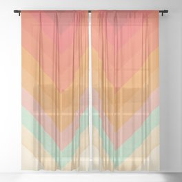 Rainbow Chevrons Sheer Curtain