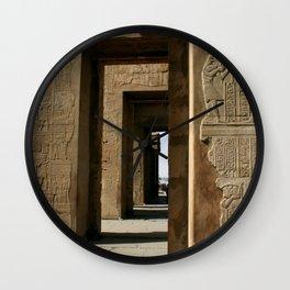 Temple Hieroglyphics Wall Clock
