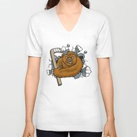 hockey V-neck T-shirts featuring HOCKEY by solomnikov