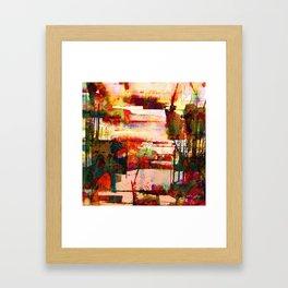pink lake Framed Art Print