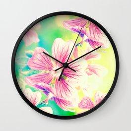 Fresh Spring Flowers Wall Clock