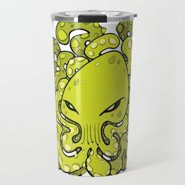 Octopus Squid Kraken Cthulhu Sea Creature - Lime Punch Travel Mug