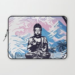 Buddha Tropical Mountain Wave Laptop Sleeve