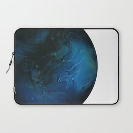 Blue Planet on White Background Laptop Sleeve