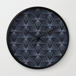 SUN TILE DARK Wall Clock