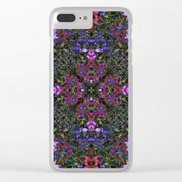 Purple Wild flowers Clear iPhone Case