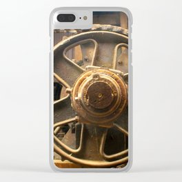 Gears of the Past Clear iPhone Case