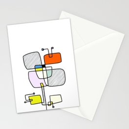 """Les Fleurs Du Mal - 1"" Modern Artwork (2018) Stationery Cards"