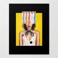 legs Canvas Prints featuring LEGS by Neon Wonderland