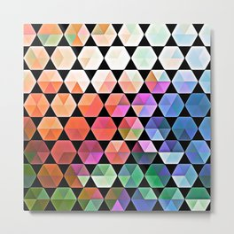 Watercolor Hex Design Metal Print
