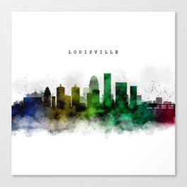 Louisville Watercolor Skyline Canvas Print
