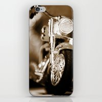 motorbike iPhone & iPod Skins featuring Motorbike-Sepia by Yar's Photography