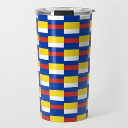Mix of flag :  Russia and ukraine Travel Mug