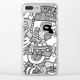 Ancient Mexican Design Clear iPhone Case