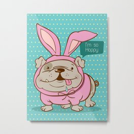 A hoppy bulldog! Metal Print