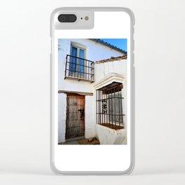 Castellar Cottage Clear iPhone Case