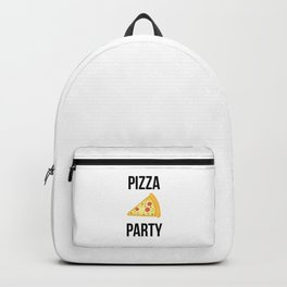 Pizza Party Funny Slice Design Backpack
