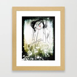 first breath after  coma... Framed Art Print