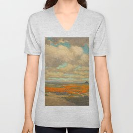 1911 Granville Redmond - A Field of California Poppies Unisex V-Neck