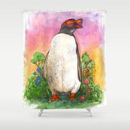Mr. Penguin is Chillin Shower Curtain
