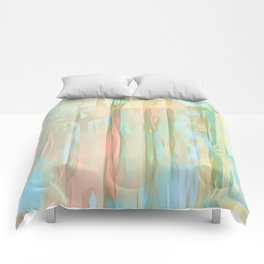 Streaks Of Colors Abstract - Pastel Comforters