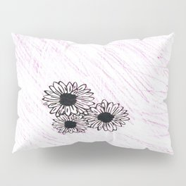 flower with pink background Pillow Sham