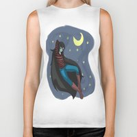 starry night Biker Tanks featuring Starry Night by Kitty C.