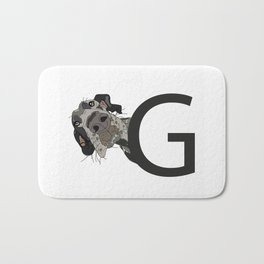 G is for Great Dane Bath Mat