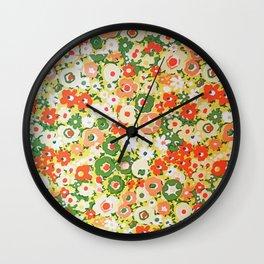 Sunset Garden Pattern No. 1 Wall Clock