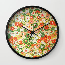 Sunset Garden Pattern No. 1 Wall Clock