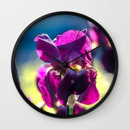 Irises Wall Clock