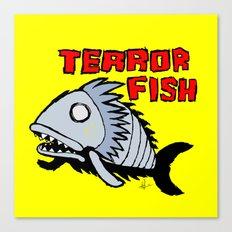 Terror fish Canvas Print