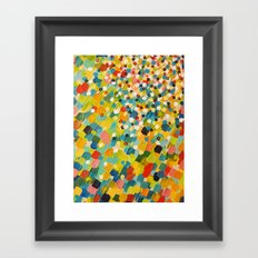 SWEPT AWAY 3 - Fresh Green Colorful Rainbow Ocean Waves Mermaid Splash Abstract Acrylic Painting Framed Art Print