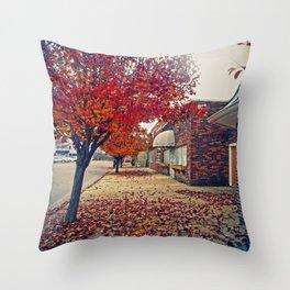 Autumn in Downtown Ironton Throw Pillow