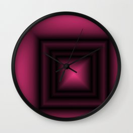 Pink & Square Wall Clock